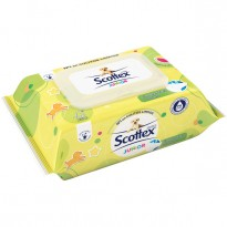 Papel Scottex húmedo Junior 84 Unidades