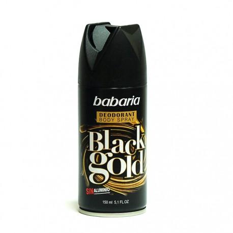 Desodorante Babaria Spray Black Gold 150 ml