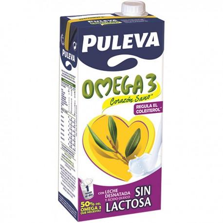 Leche Puleva Sin Lactosa Omega-3 brick 1 litro