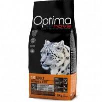 OPTIMA NOVA CAT ADULT SALMONRICE 2 KG.