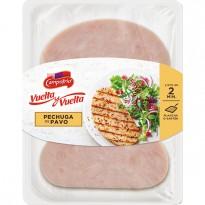 CAMPOFRIO Vuelta y Vuelta pechuga de pavo sin gluten sin lactosa envase 190 g