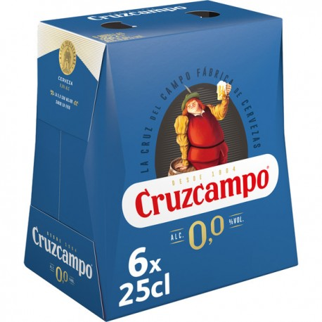 Cruzcampo 25 cl 0,0%  pack 6*4 u.