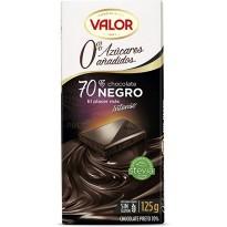 VALOR -  Chocolate Puro 70% cacao  sin azúcar 125g