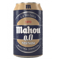 CERVEZA MAHOU TOSTADA SIN ALCOHOL 33CL  24 UNID - R431