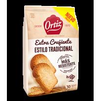 Tostada Tradicional Extra Crujiente Ortiz 30 rebanadas 270 gramos