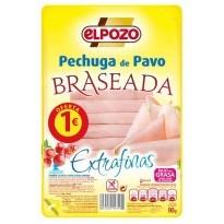 Elpozo Pechuga de Pavo Braseada Lonchas Finas 90 gramos