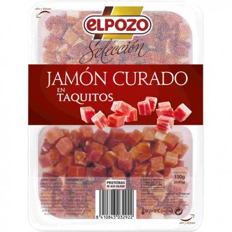 Elpozo Jamón taquitos 130 gramos