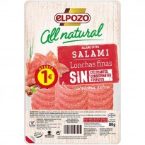Elpozo Salami All Natural 80 gramos