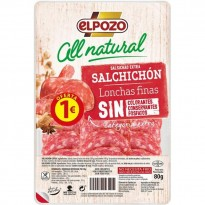 Salchichón Elpozo All Natural 80 gramos